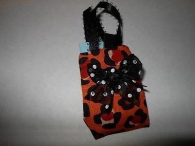 How to make doll handbag or purse doll fashion