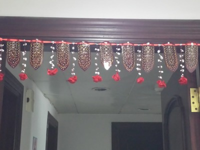 HOW TO MAKE DOOR HANGING DECOR FROM WASTE