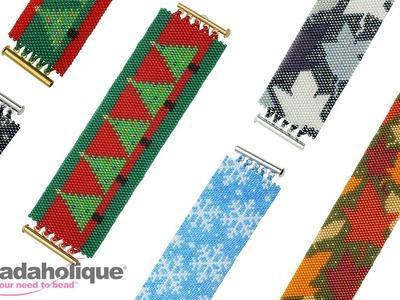 How to Make the Peyote Bracelet Kits: Leaves, Trees & Snowflakes