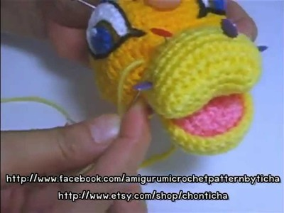 How to sew mouth and nose in place - Simba Amigurumi