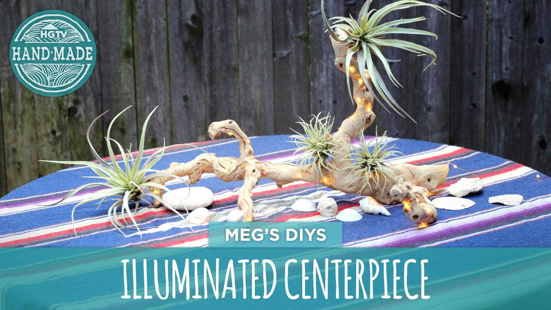 Illuminated Driftwood Centerpiece- HGTV Handmade