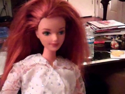 Making a Kate Middleton Barbie Wedding Dress Part 10