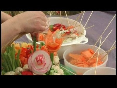 Making Edible Vegetable Arrangements : Edible Arrangements: Adding Vegetable Flowers
