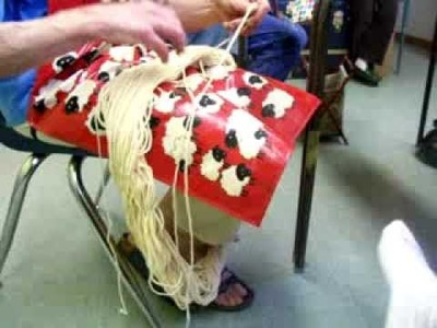 Nancy Today: Natural dye (6)  Madder root for red dye ASMR Sheep weaving 'Sounds of Nature'
