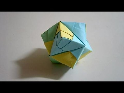 Origami Stellated Octahedron (Sonobe) - Good as a Christmas decoration ornament!