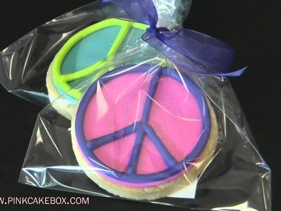 Peace Sign Topsy Turvy Bat Mitzvah Cake