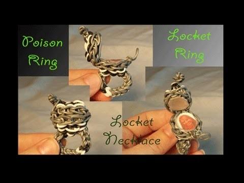 Piture Locket Ring  on the Rainbow Loom - Willowcreat AKA Cheryl Mayberry