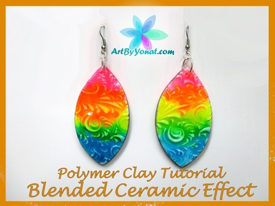 Polymer Clay Tutorial - Blended Ceramic Effect - Lesson #31
