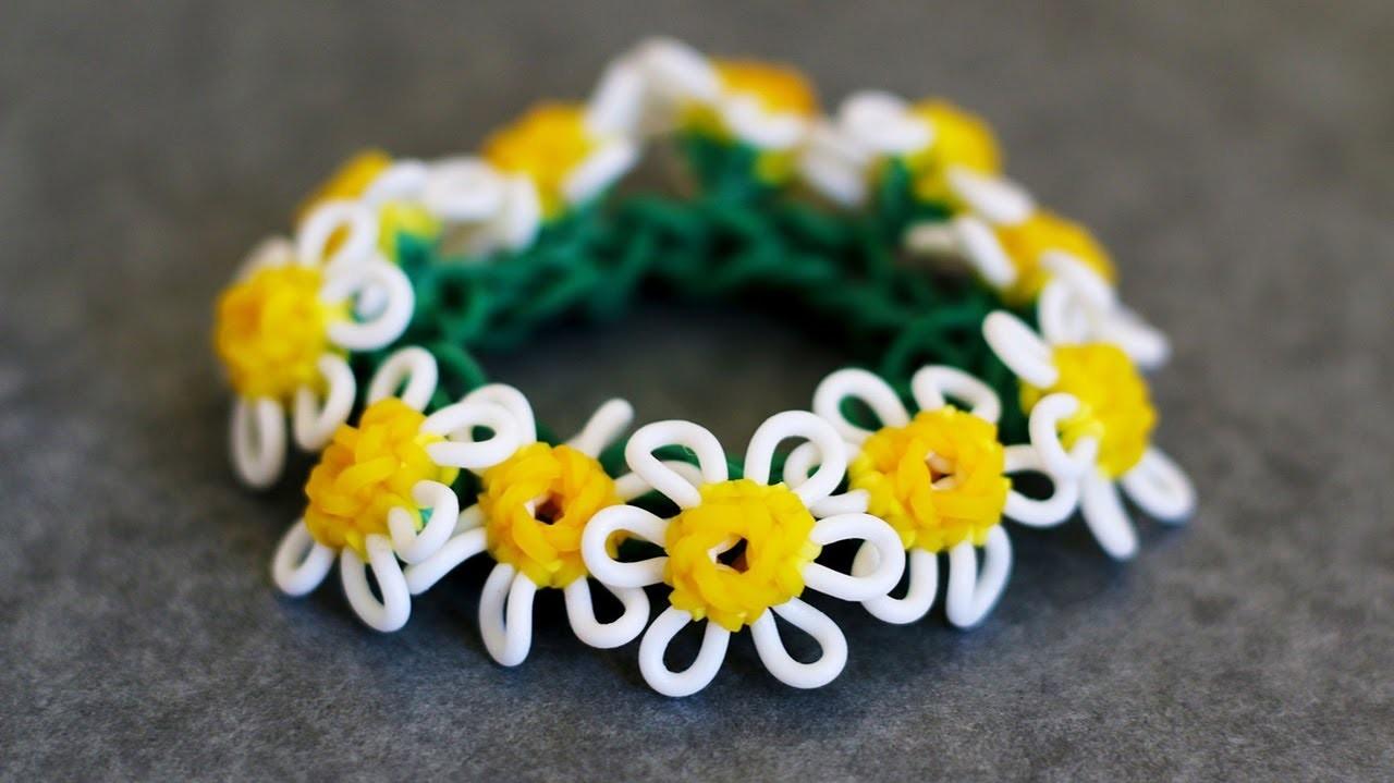 Rainbow Loom™  Macro Daisy Flower Tutorial Part 2