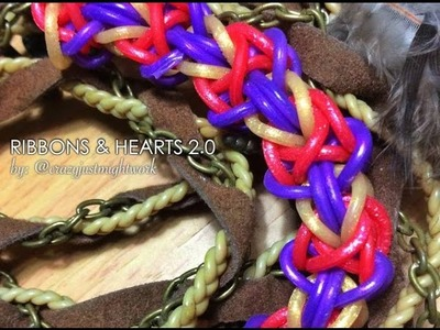 RIBBONS & HEARTS 2.0 Hook Only bracelet tutorial