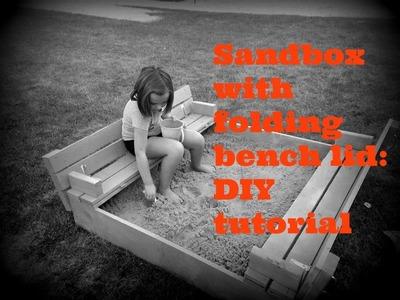 Sandbox with folding bench lid: DIY Tutorial (plans by ana-white.com)