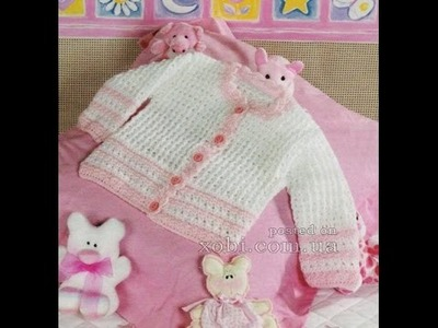 VERY EASY crochet cardigan. sweater. jumper tutorial - baby and child sizes 6