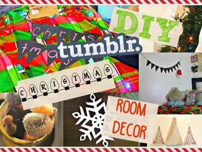 8 DIY TUMBLR & PINTREST CHRISTMAS ROOM DECOR | CHEAP & EASY!!