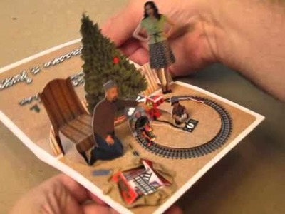 Animated Toy Train Christmas Card