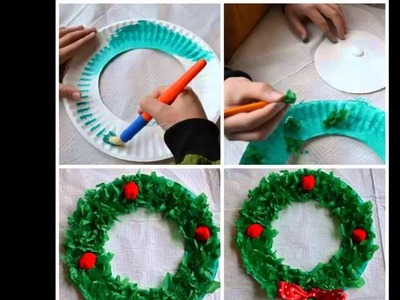 Beautiful Handmade Set Of Diy Picture Collections & Ideas | Christmas Paper Plate Crafts For Kids