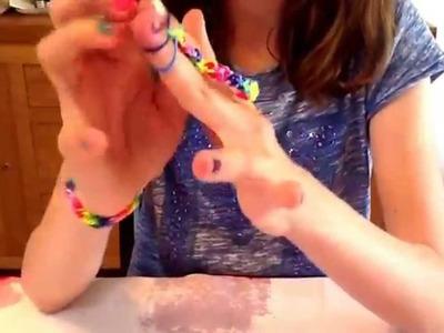 Bracelet élastique rainbow loom facile