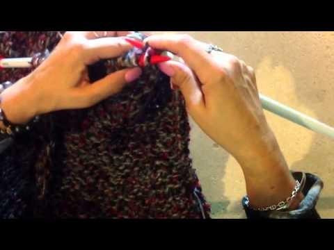 Chaleco tejido por aguja