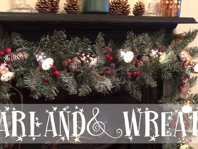 Christmas DIY ❄ Making a Rustic Garland and Wreath