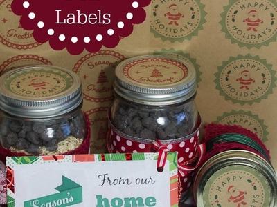 Christmas Mason Jar Labels and Gift Tags