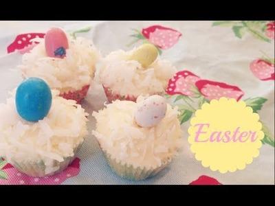 Coconut Cupcakes + Easter DIY