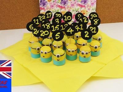 DIY Advent Calendar – Minion Surprises for Children – Christmas Ideas kinder surprise