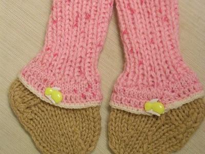 DIY Baby Stulpen Stricken*Baby Socken Stricken*Tutorial Handarbeit