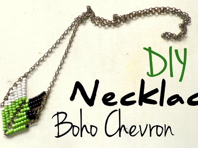 DIY Boho Chevron Necklace | Fall Fashion Idea | By Fluffy Hedgehog