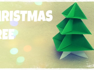 DIY Christmas Ornament - Origami Christmas Tree