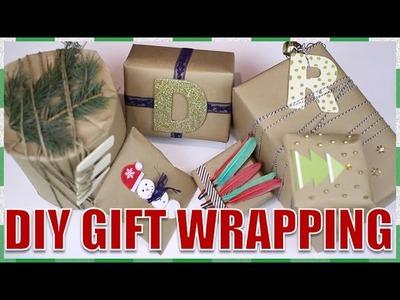 DIY Creative Christmas Gift Wrapping ⎟ 6 WAYS