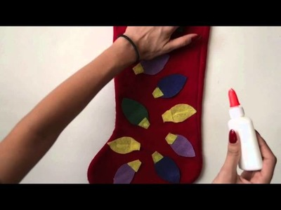 DIY - Decorating my Christmas Stocking (No Sew)