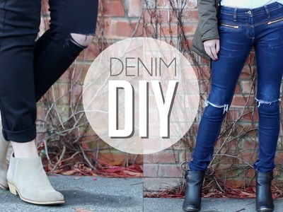 DIY Distressed Denim | Ripped Knee Jeans
