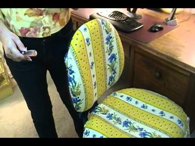 DIY Easy Way to Cover Office Chairs - Joni Hilton