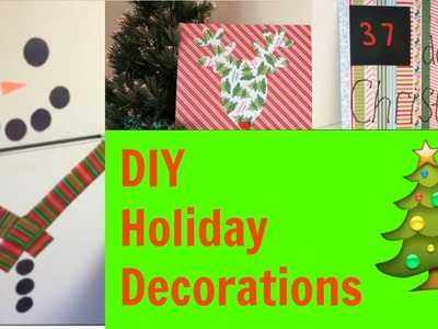 DIY Holiday Decor! Easy Christmas Decorations For Your Room & Kitchen!