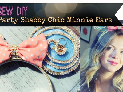DIY No Sew Minnie Mouse Crystal Teaparty Ears!