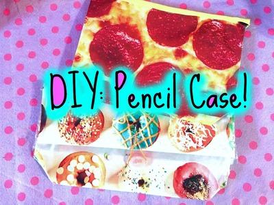 DIY: NO SEW PENCIL CASE. PENCIL POUCH!