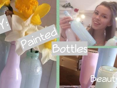 DIY Painted Glass Bottles