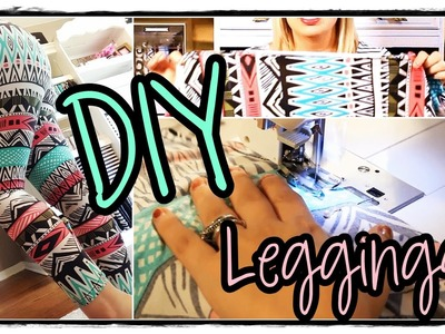 DIY Sewing Tutorial How to Make Leggings EASY