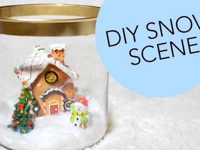 DIY Snow Scene In A Jar | ErinRachel