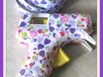 DIY Washi Tape Glue Gun. How to decorate your glue gun with washi tape. Washi Tape Crafts