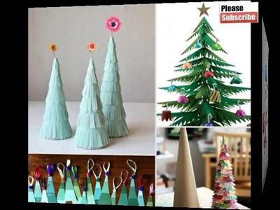 Easy Christmas Paper Crafts| Beautiful Handmade Set Of Diy Picture Collections & Ideas