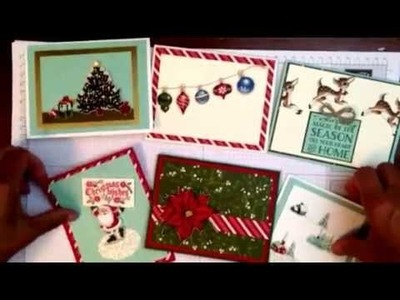 Easy Handmade Christmas Cards with a Vintage Look!