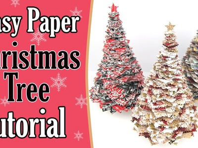 EASY Paper Christmas Tree Tutorial