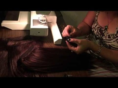 Easy way Sewing hair extensions together &clips