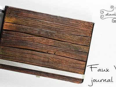 Faux wood journal cover - polymer clay TUTORIAL