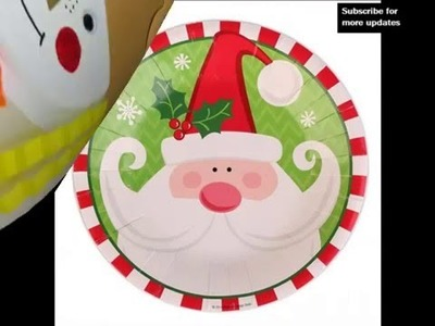 Handmade Christmas Paper Plate Crafts ideas for Kids | Set Of Diy Lovely Picture Collections