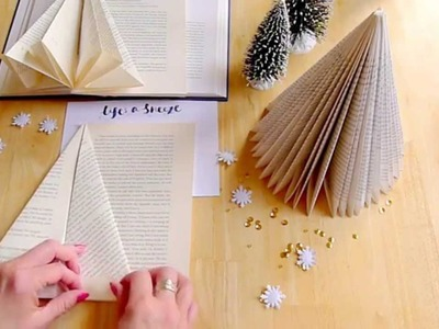 How to make a folded book tree for Christmas