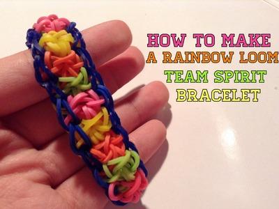 How to Make a Rainbow Loom Team Spirit Bracelet
