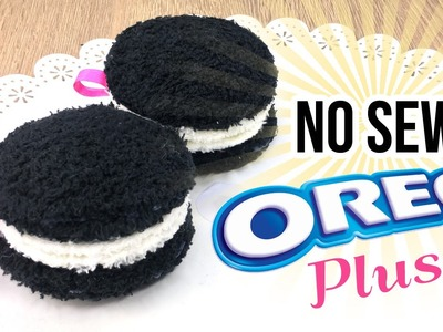 How To Make Oreo Plush - NO SEWING DIY Christmas Gift Idea! Make Plushie Oreo Cookies!