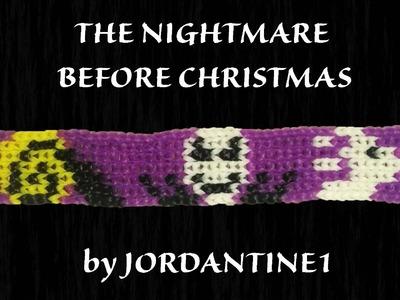 New Nightmare Before Christmas Bracelet Grid Pattern - Alpha. Rainbow Loom - Jack, Zero  Halloween