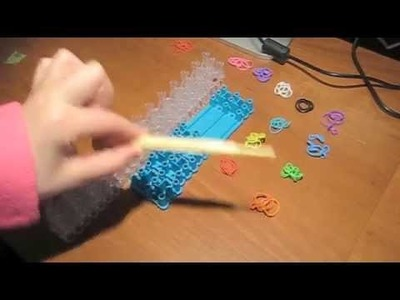 Rainbow loom 4 pin hexafish